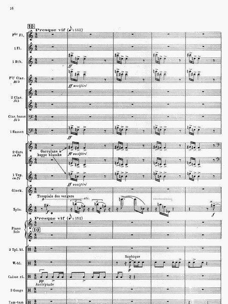 """Olivier Messiaen: Aus """"Oiseaux exotiques 1955"""