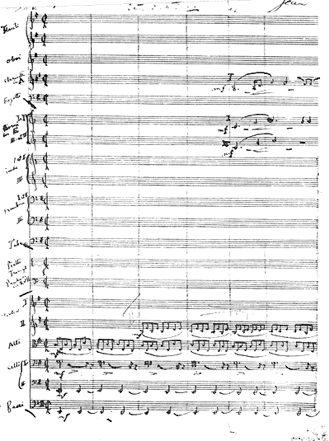 Autograph der Kullervo-Sinfonie für Soli, Chor und Orchester nach Worten aus der Kalevala