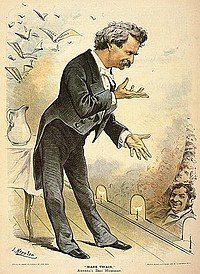 Mark Twain nimmt Theater-Huldigungen entgegen