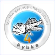 Die momentan stärkste Chess Engine (hier das Logo der letzten Version 4): Rybka von Vasik Rajlich