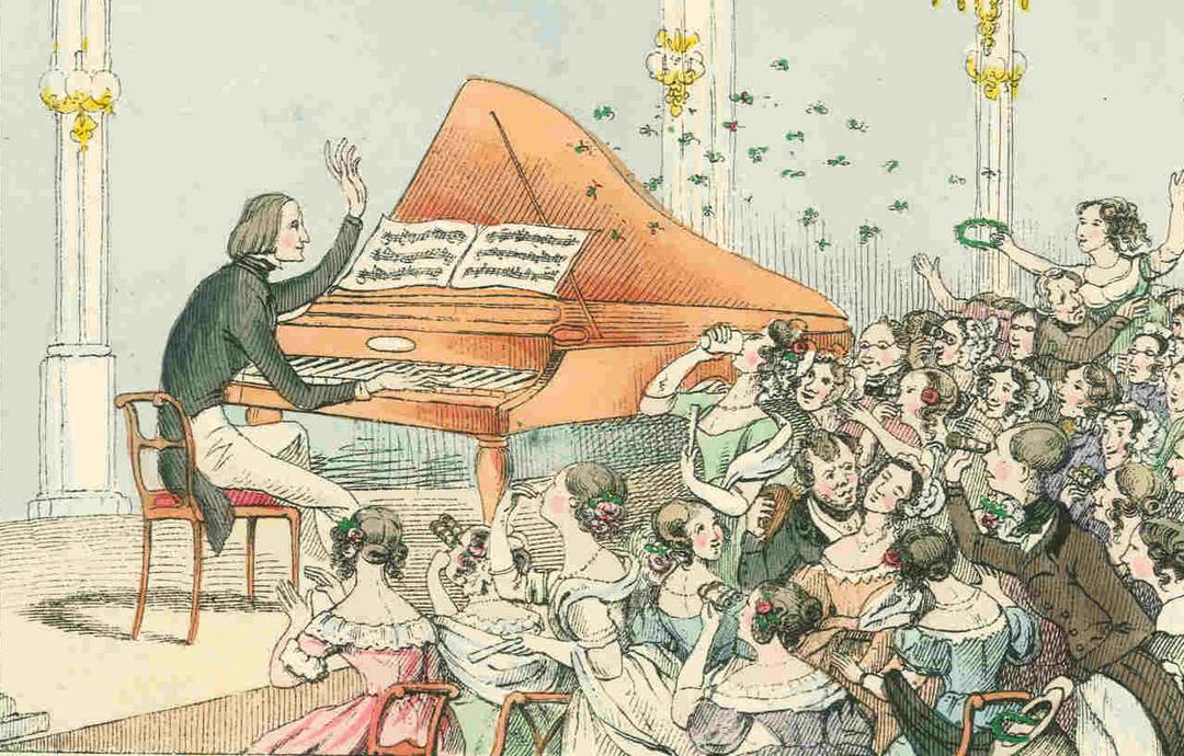 Lisztomania im Konzertsaal (Hosemann)
