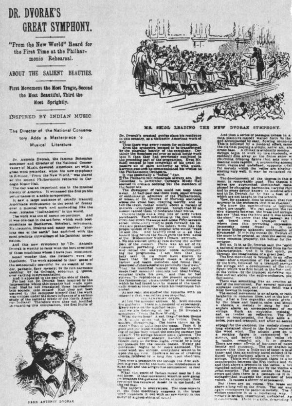 "Der ""New York Herald"" vom 16.12.1893: ""Dr. Dvorak's Great Symphony"""