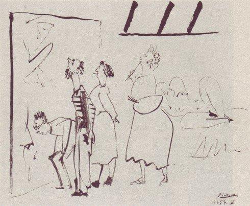 Pablo Picasso (1881-1973): «Besuch im Atelier»