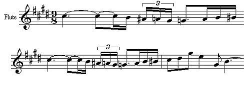 """Flöten-Motiv aus Claude Debussys «Prélude a l'après-midi d'un faune"""""""