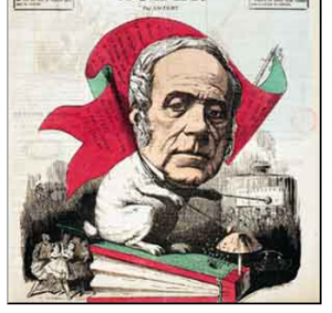 "Daniel F. E. Auber in einer Karikatur der Gazette ""Le Bouffon"""
