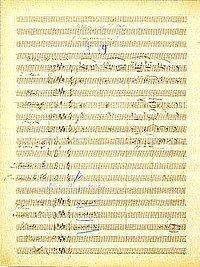 """Autograph der """"Morgenstimmung* von Edward Grieg"""