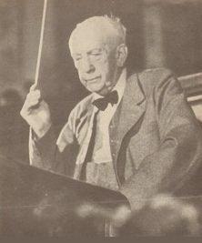 Strauss als Dirigent der Bayrischen Staatsoper 1949
