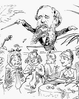 Dirigent Benjamin Bilses bestrickende Leitung (Zeitgenössische Karikatur)