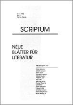 Literaturzeitschrift SCRIPTUM Nr. 01 - Cover