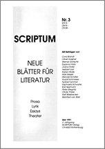 Literaturzeitschrift SCRIPTUM Nr. 03 - Cover