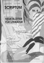 Literaturzeitschrift SCRIPTUM Nr. 06 - Cover