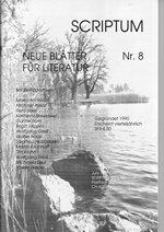 Literaturzeitschrift SCRIPTUM Nr. 08 - Cover