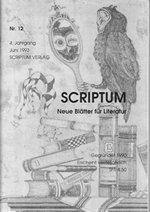 Literaturzeitschrift SCRIPTUM Nr. 12 - Cover