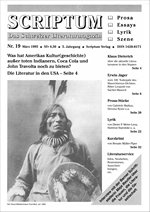 Literaturzeitschrift SCRIPTUM Nr. 19 - Cover