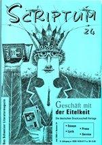 Literaturzeitschrift SCRIPTUM Nr. 24 - Cover
