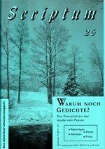 Literaturzeitschrift SCRIPTUM Nr. 26 - Cover