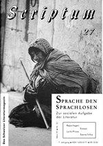 Literaturzeitschrift SCRIPTUM Nr. 27 - Cover