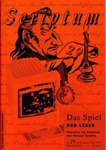 Literaturzeitschrift SCRIPTUM Nr. 29 - Cover
