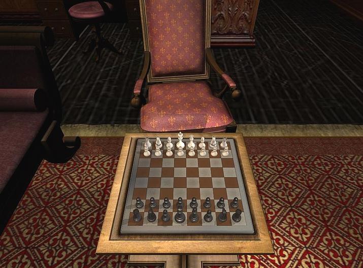 Üppige Grafik, ästhetische Schach-Räume, aber auch Ressourcen-Fresser: Die «Englische Bibliothek» in «Fritz 12»