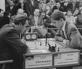 Sportlicher Höhepunkt des DDR-Schachs: Schacholympiade Leipzig 1960 (DDR-USA - Uhlmann vs Fischer)