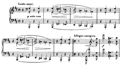 Anfang der Lisztschen h-moll-Klaviersonate: «Changieren zwischen Streichern und Holzbläsern»
