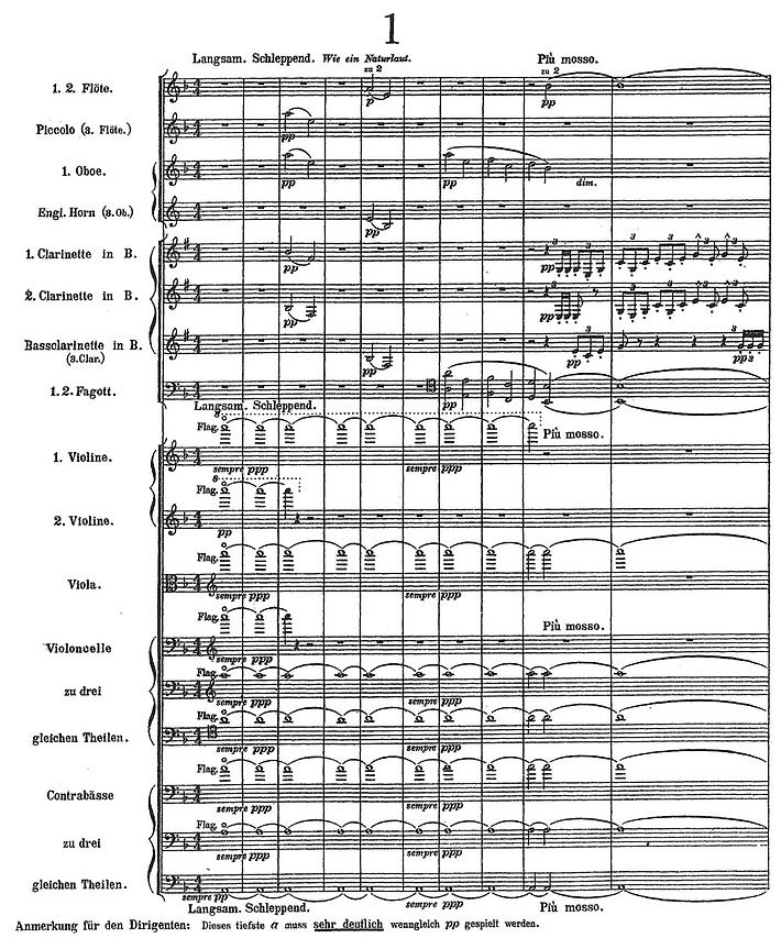 Gustav Mahler, Sinfonie Nr.1 D-Dur: Beginn des 1. Satzes