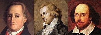 Drei der wichtigsten Zitate-Lieferanten: Die Dichterfürsten Goethe, Schiller und Shakespeare