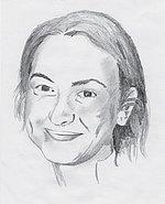 Frauen-Schachweltmeisterin 2004 Antoaneta Stefanowa in einer Zeichnung von Axel Hennlein