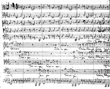 Chor-Behandlung auf einsam hohem Niveau: Autographisches Fragment der Kantate «Weinen, Klagen, Sorgen Zagen» (BWV 12)