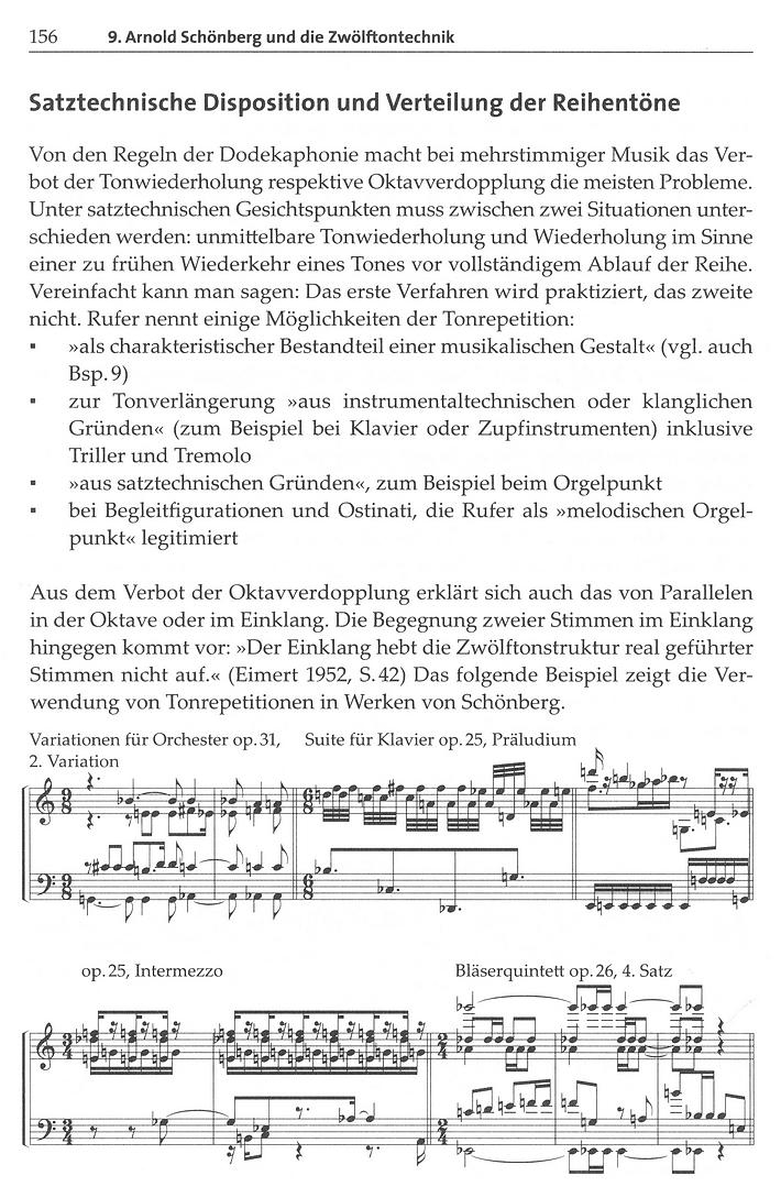 Leseprobe 2: Arnold Schönberg und die Zwölftonmusik