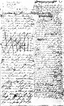 Die erste Manuskript-Seite des 2. Bandes von Shopenhauers «Die Welt als Wille und Vorstellung»