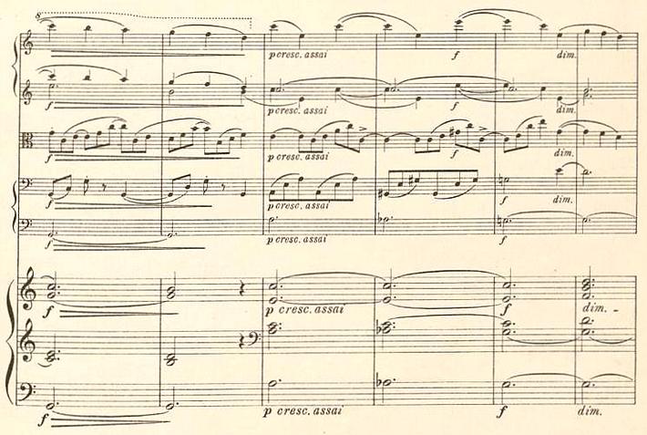 «Nicht innovative, aber ungekünstelte» Brahms-Nachfolge: Partitur-Auszug von «In memoriam - Klage-Sang für Streichorchester & Orgel» op. 91 von Friedrich Gernsheim