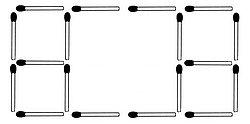 Legen Sie zwei Streichhölzer so um, dass fünf Quadrate entstehen (Lösung des Rätsels)