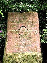 Der Claudius-Gedenkstein im «Wandsbeker Gehölz»
