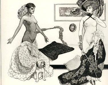«Venus im Pelz»: Sado-masochistische Illustration von Franz von Bayros (Regine Schricker: Ohnmachtsrausch und Liebeswahn)