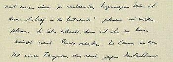 Handschrift von Hofmannsthal