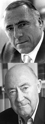 Zwei der letzten großen Verleger-Persönlichkeiten: Siegfried Unseld (†2002) und Daniel Keel (†2011)