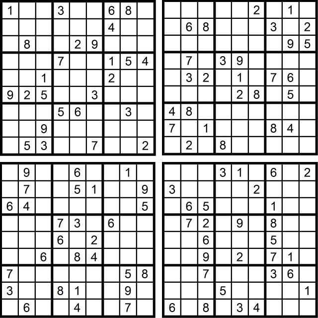 Der Sudoku-Spass im Mai 2016