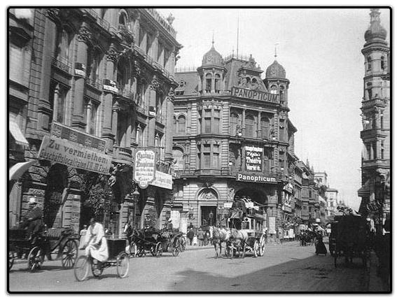 Die Friedrichstrasse in Berlin um 1900