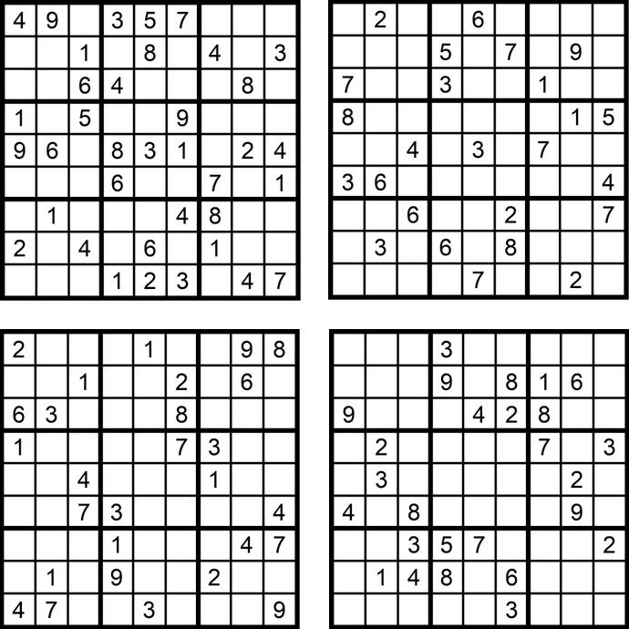 Das Sudoku-Quartett im März 2018