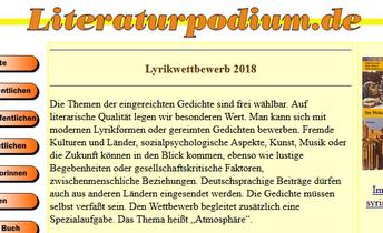 Literaturpodium - Lyrik-Wettbewerbe - Screenshot Glarean Magazin