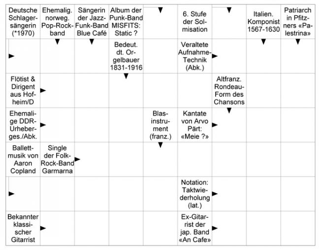 Das neue Musik-Kreuzworträtsel vom April 2018