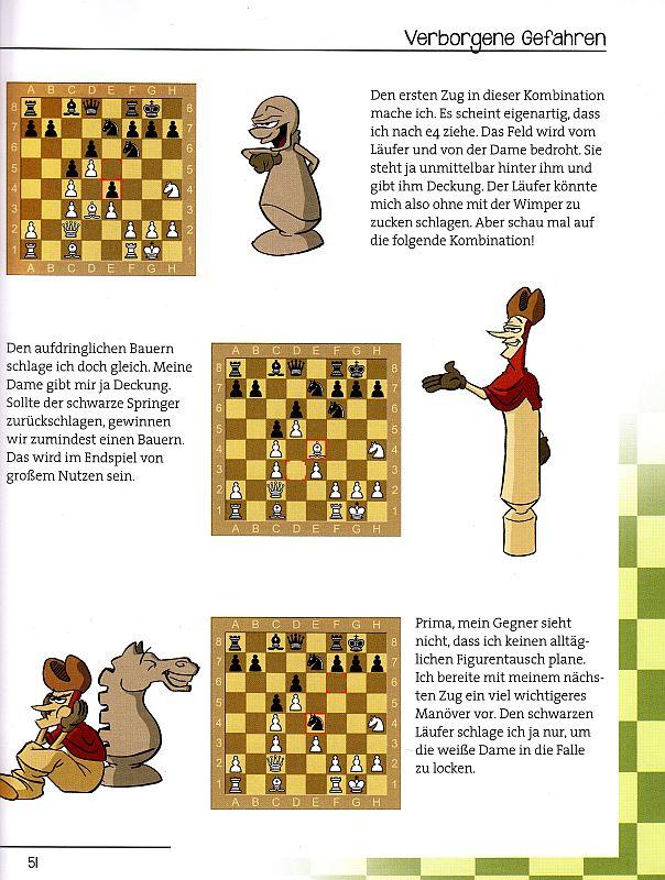 Schachtricks für Kinder - Beispielseite Compact Verlag - Rezension im Glarean Magazin
