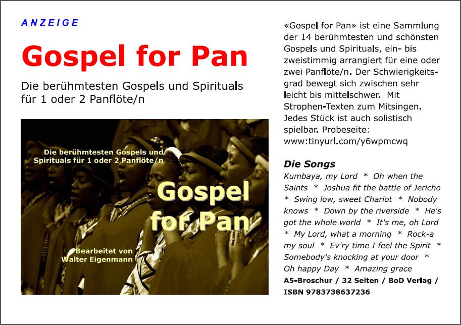 Gospel for Pan - Musik - Anzeige - Heft-Cover - Walter Eigenmann.png