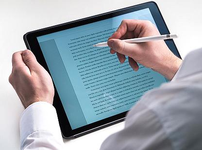 Literatur - Autoren - Schreiben - Texte - Tablet - E-book - Glarean Magazin