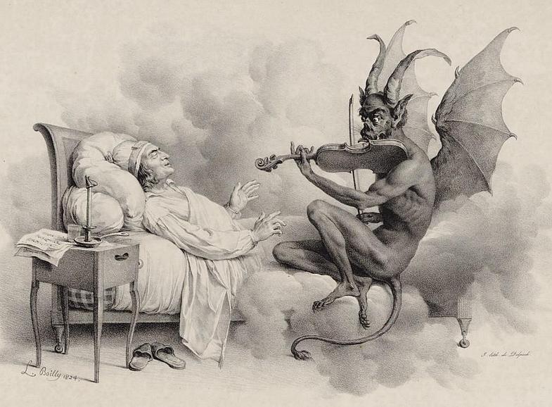 Tartini - Teufelstriller-Sonate - Zeitgenössische Illustration - Glarean Magazin
